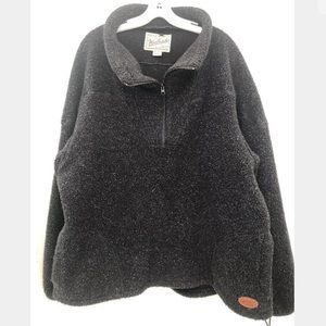 Woolrich derp pile Sherpa fleece 3/4 zip ladies XL